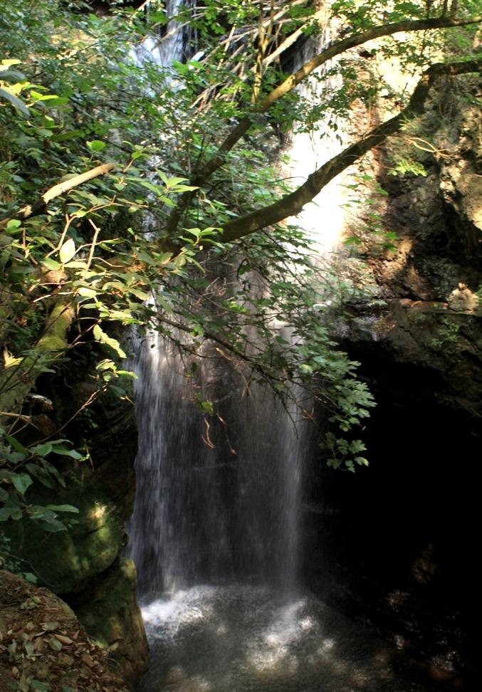 presso la cascata del'Olgiata