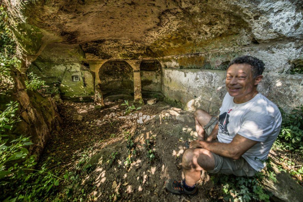 presso la grotta degli Angeli. Foto di Giuliano Giuliani.