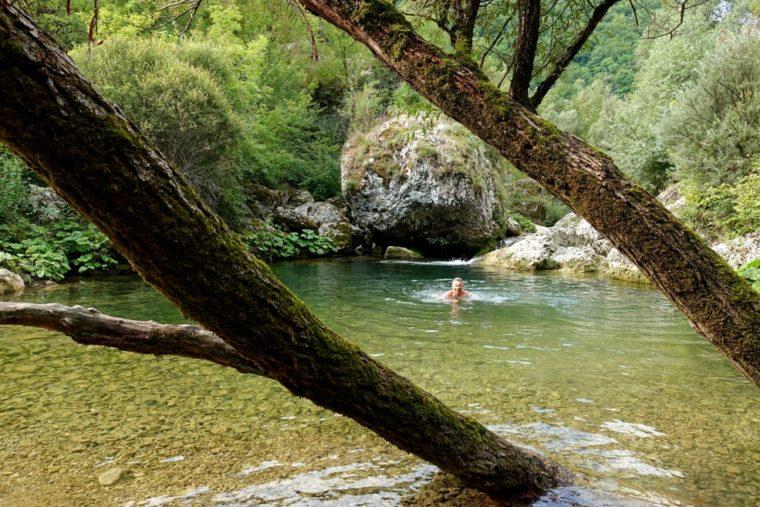 Conclusione e Credits - acqua trekking lungo il Rio Petescia