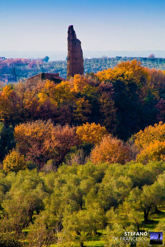 la Torre Raminga - inizio dell'acqua trekking alla periferia est di Roma - foto di S. De Francesco