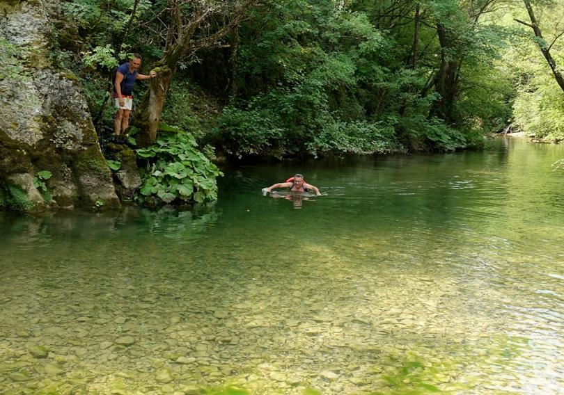 guadare il Rio Petescia