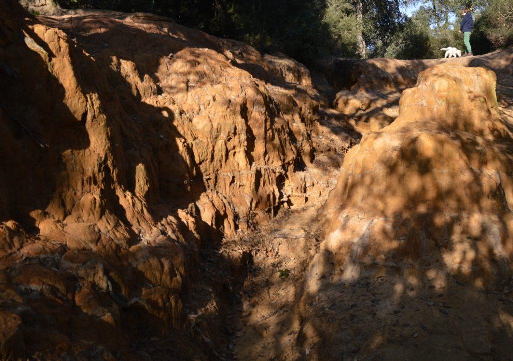 le erosioni del parco del pineto