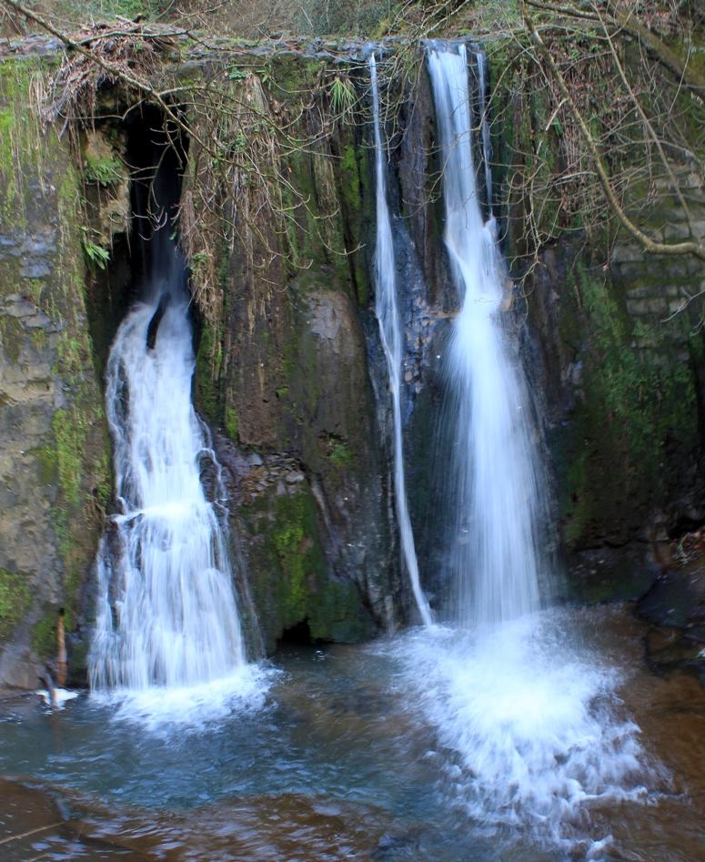 La cascata della mola di mezzo nella sua seconda fase - come cambiano le cascate