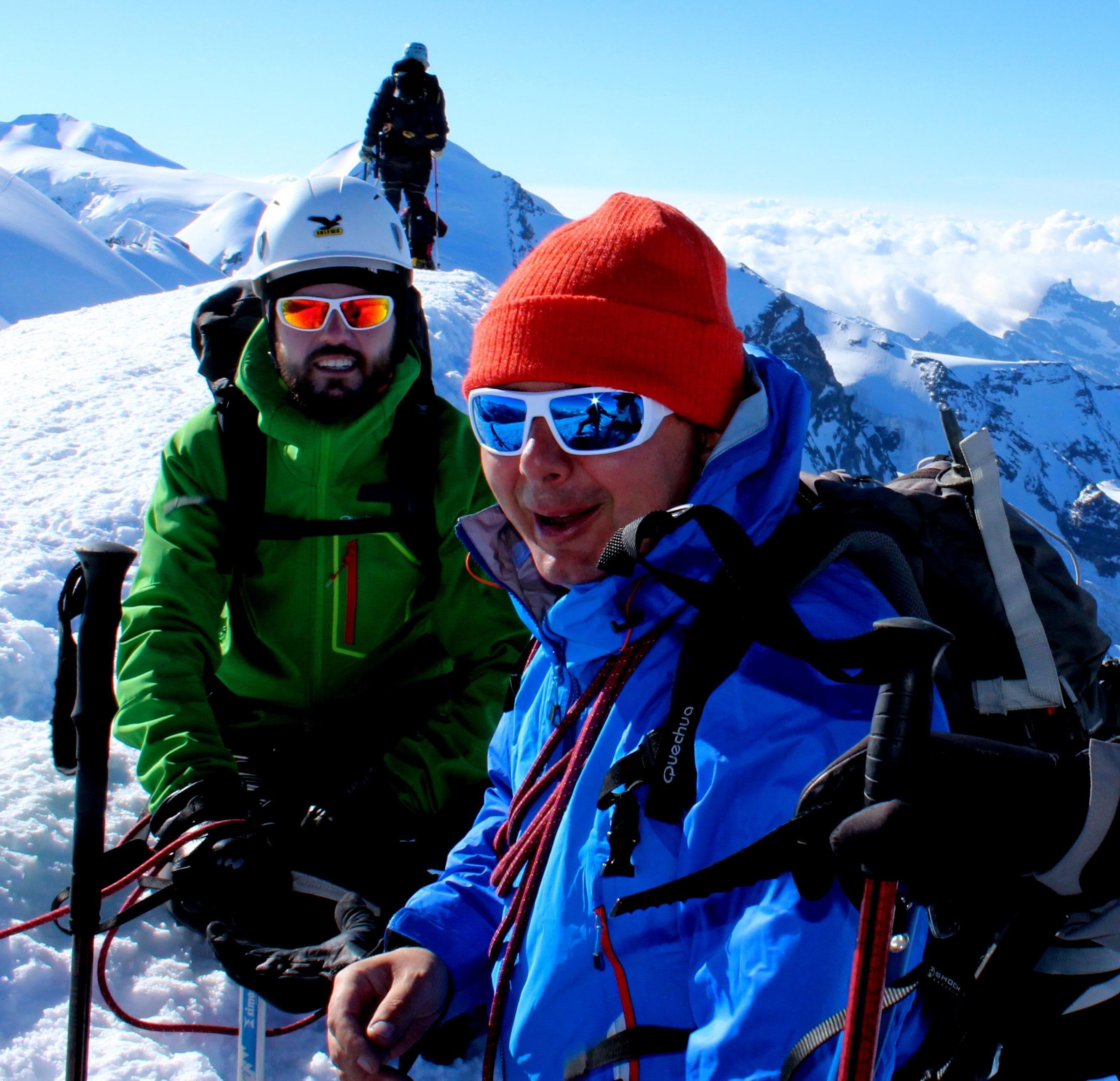 con Federico Palla sulla cima del Breithorn (4.165 m)