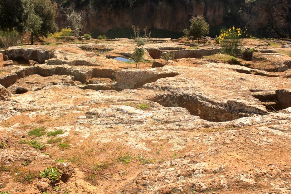 luoghi segreti e coronavirus - la necropoli del laghetto a Cerveteri. E non la Turchia.