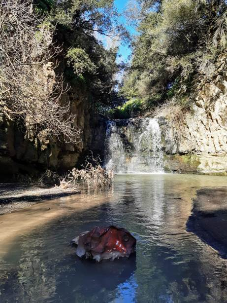 La cascata del Fosso della Casaccia